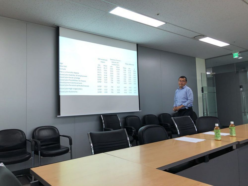 Dr. Muzaffarjon Ahunov, Endicott College' Professor, jointly with his co-author Dr. Nurmukhammad Yusupov, from Solbridge International Business School, have presented their research at the Korean Labour Institute