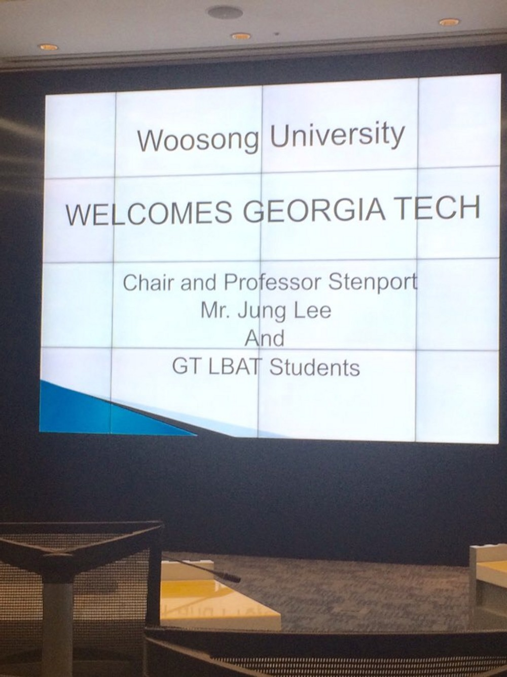 Georgia Tech Students Visit