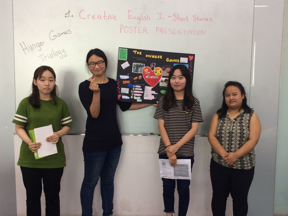Poster Presentations in Creative English Class