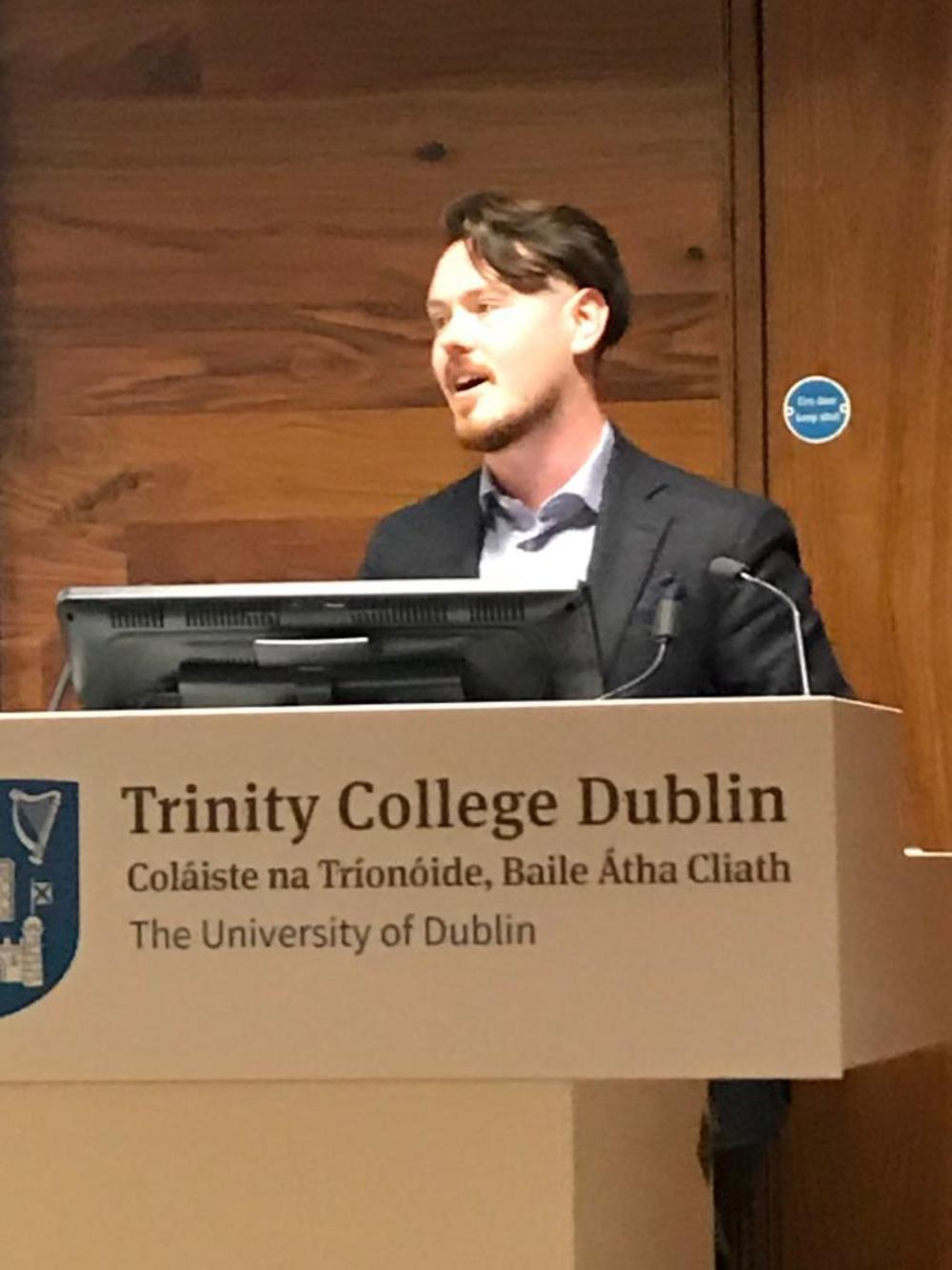 Loughlin Sweeney guest lecture at Trinity College